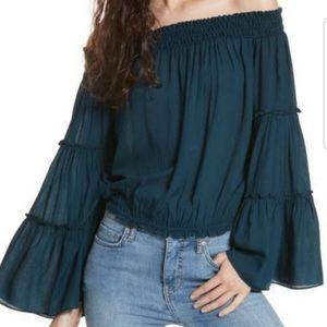 FREE PEOPLE bell sleeve boho blouse